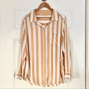 Striped Button-Up Shirt with Pocket